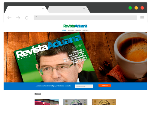 Site Revista Aduana