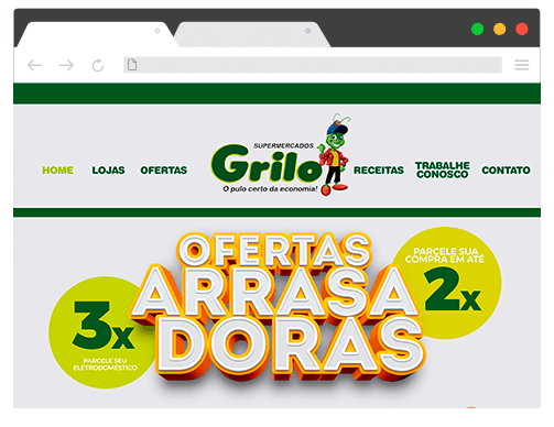 Site Grilo Supermercado